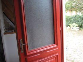...et peinture de la porte !